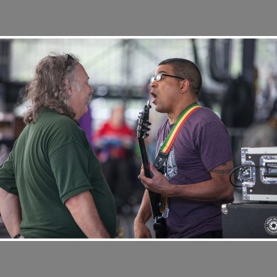 Bert Holman and Oteil Burbridge at Peach Festival 2016 - photo by Derek McCabe Photography