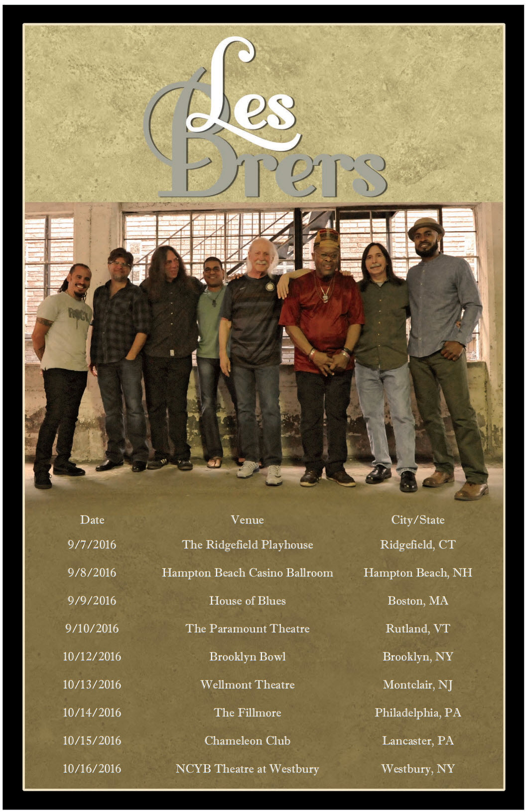 Les Brers Fall Tour Dates 2016