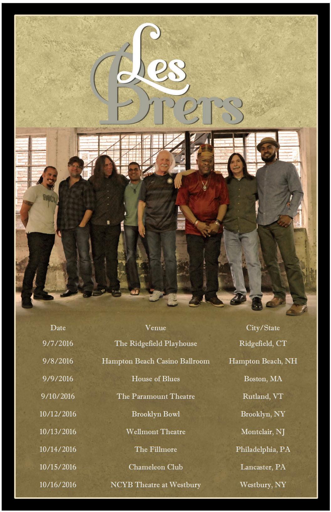 Les Brers Fall Tour Dates 2016